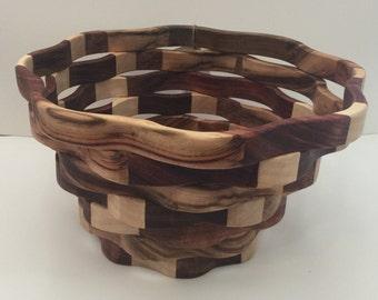 Handmade Australian wooden decorative / fruit bowl
