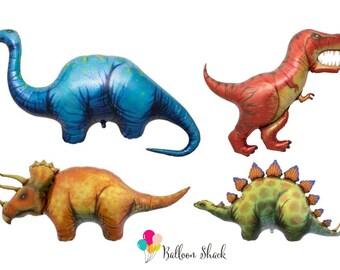 Dinosaur Balloons- T-Rex Stegosaurus Triceratops Balloons- Jurassic Park