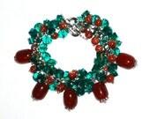 Green Bracelet Green Jewelry Beaded Bracelet Gemstone Bracelet Bridesmaid Bracelet Womens Bracelet Gift for Her