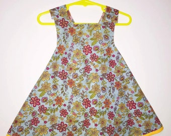 Baby Dress, A-line Dress, Cotton Dress, Pinafore Dress, Size 2t Dress, Infant Dress, Baby Pinafore,
