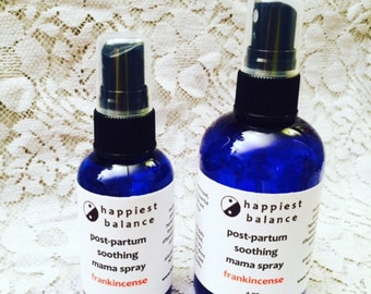 soothing post partum mama spray - frankincense