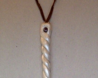 Silver & White Unicorn Horn Necklace