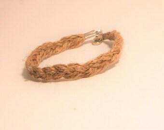 Burlap Braided Bracelet