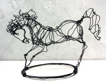 Horse decor, horse sculpture, Home Decor, Wire Decor, Wire horse, Wire Art, Wire Sculpture, Patio Decor, Cottage Chic Décor, unique