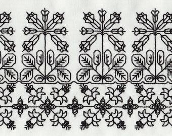 Elizabethan Blackwork 15 Elegant Borders - Machine Embroidery Designs
