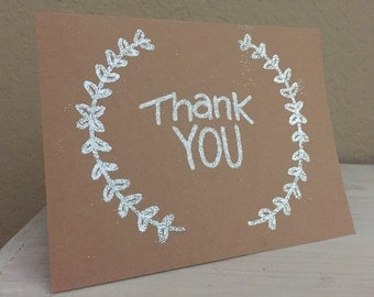 Set of 5 Handmade Thank You Cards