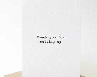 Thank you groomsmen card/ Thank you groomsman card