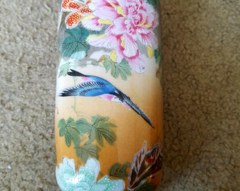 Nippon Japanese Handpainted Pottery Vase Signed