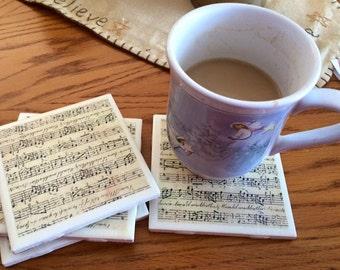 Music Ceramic Coaster - Set of 4