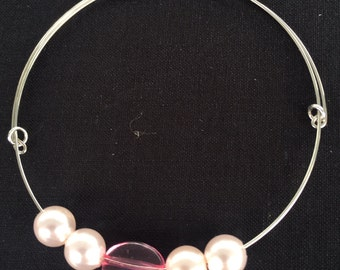 Pink and Pearl Jewelry Set