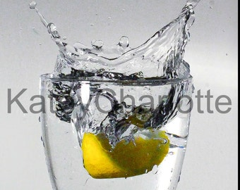 Lemon Splash (02) A3 Gloss Print