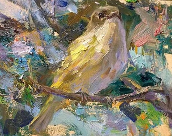 Wren Bird 8x8 Print on Watercolor Paper with Deckled Edge or Giclee