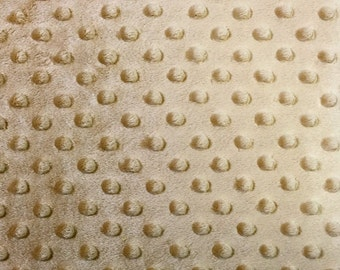 Minky Dimple Dot Fabric By The Yard Gold (W1)