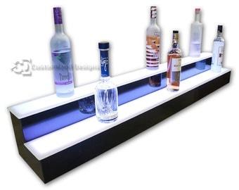 "60"" 2 Step LED Lighted Bar Shelves - Free Shipping!"