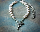 The Key Opens Your Heart Pearl Necklace