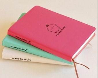 Molang Diary Journal Mint Colour
