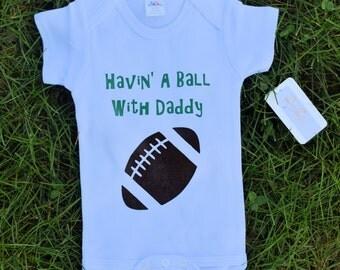 Football Baby - Football Baby Clothes - Football Baby Boy - Baby Boy Clothes - Personalized Baby Clothes - Custom Baby Clothes-Havin' a Ball