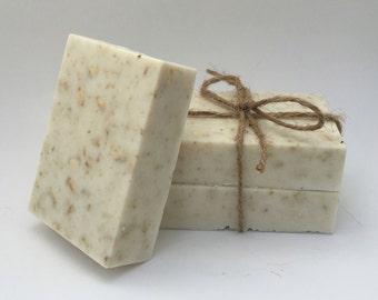 Coconut, Almond, & Oatmeal Handmade Bar Soap