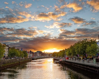 Dublin City Centre Sunset HDR - Digital Download