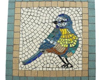 Mosaic of a bluetit