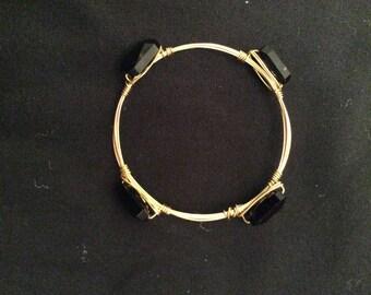 Handmade wire wrap bracelet