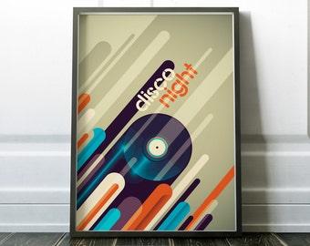 Music Poster Wall Art Print Music Art Music Wall Decor Poster Disco Music Poster Digital Print Modern Art 70s Music Print Music Wall Prints
