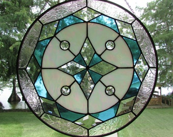 18.25 Inch Diameter Stained Glass Art Panel