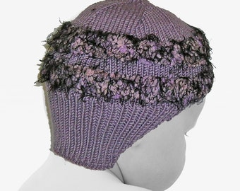 One of a Kind Purple Baby Helmet with Matching Booties - 3 to 6 Months
