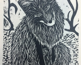 Fox Original Woodcut
