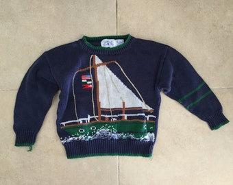 Adorable cotton sailboat sweater for toddlers