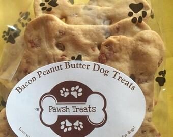Bacon Peanut Butter Dog Treats