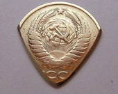 Coin Guitar Pick - Russian 5 Kopeck 1988-1992
