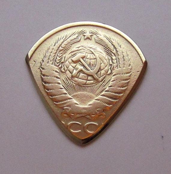 Coin Guitar Pick - Russian 5 Kopeck 1988-1992