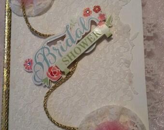 Beautiful Bridal Shower Scrapbook/Journal