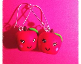 Apple in Fimo earrings