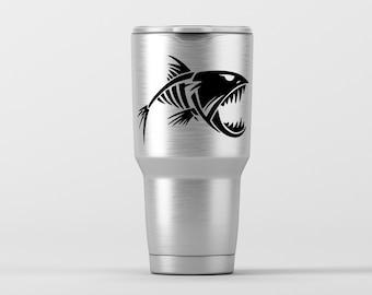 Boney Fish (1) / Yeti Decal / Vinyl Decal / Yeti Tumbler Decal / Yeti Cup Decal / RTIC / ***Tumbler Available***