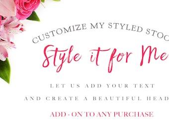 Styled Stock Customizing   Add-On   Website Header   Graphic Design   Custom Shop Header   Flowers