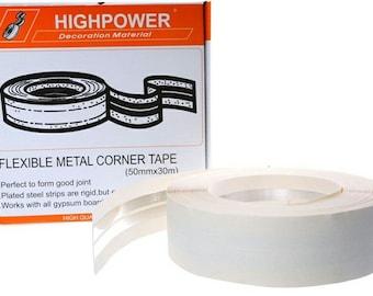 30m roll flexible metal corner strip 50mm wide tape