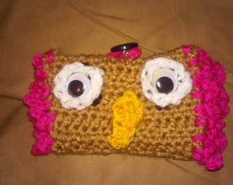 Owl crochet wallet