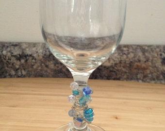 Beaded Wine Glass