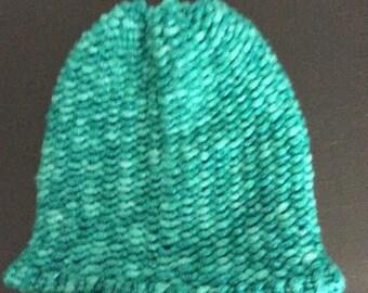 Aqua Blue Hat- Adult size