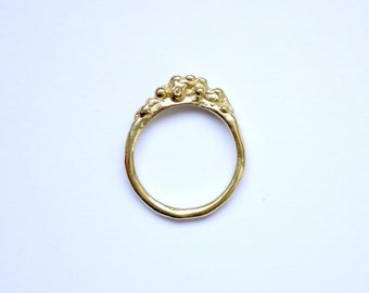 18ct Gold Plate Bubble Ring