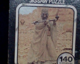 Vintage Star Wars Sand People puzzle  Attack of the Sand People