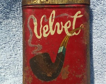 Antique Velve Tobacco Tin