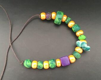 Fimo Acid orange Bracelet