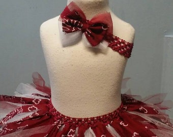 Red Bandana Tutu with Matching Headband