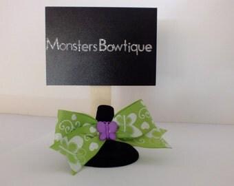 Purple Butterfly Bow