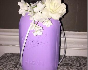Lavender Rustic Mason Jar Decoration