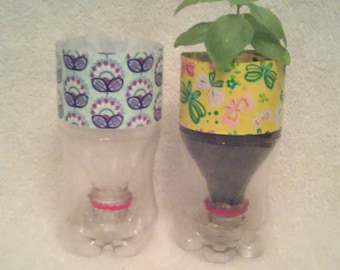 4 Recycled Plastic Bottles For Indoor Potting