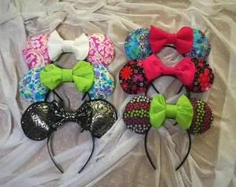 Girls Bow Mouse Ears Headband